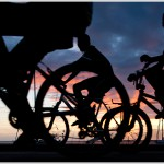 Bicyclists at Sunset, Kralendijk, Bonaire