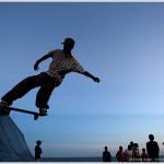 Skateboarder, Maputo, Mozambique