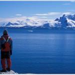 Hiker, Paradise Bay, Antarctica