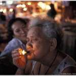 Woman Smoking Cigar, Cebu City, Cebu Island, Philippines, Asia