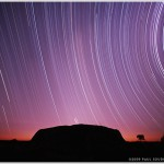 Ayers Rock and Star Trails, Ulru - Kata Tjuta National Park, Australia