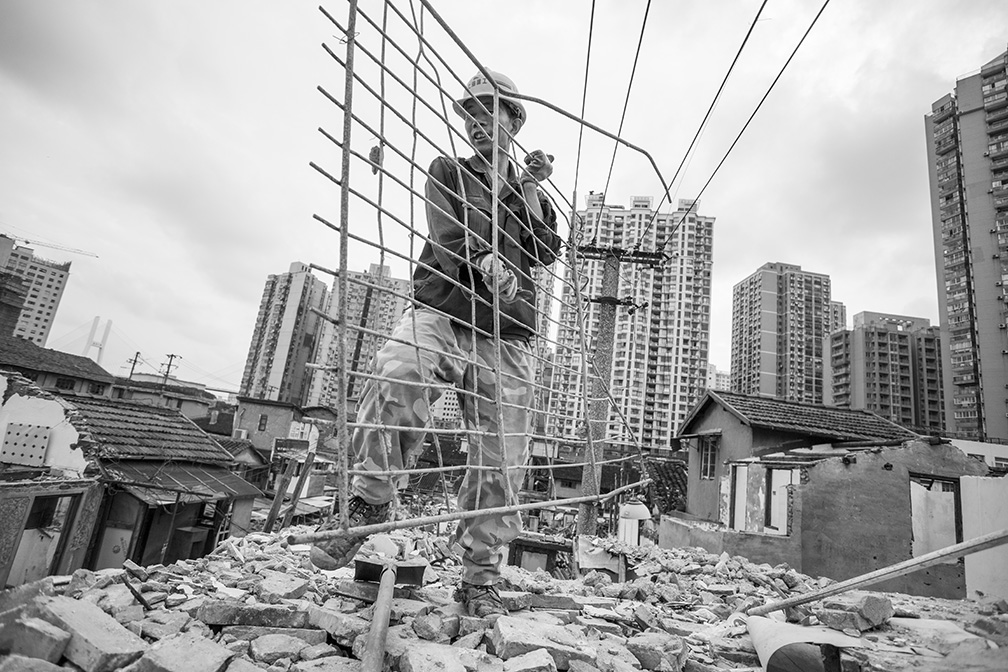 Neighborhood Demolition, Shanghai, China